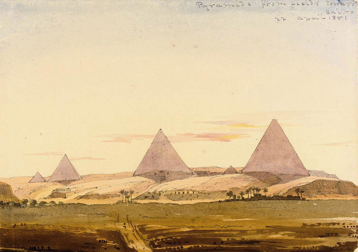 A sketchbook of forty-five drawings and watercolours from the artist's tour in 1851 of India, Turkey, Egypt, Syria, Beirut, Israel, Cyprus and Greece