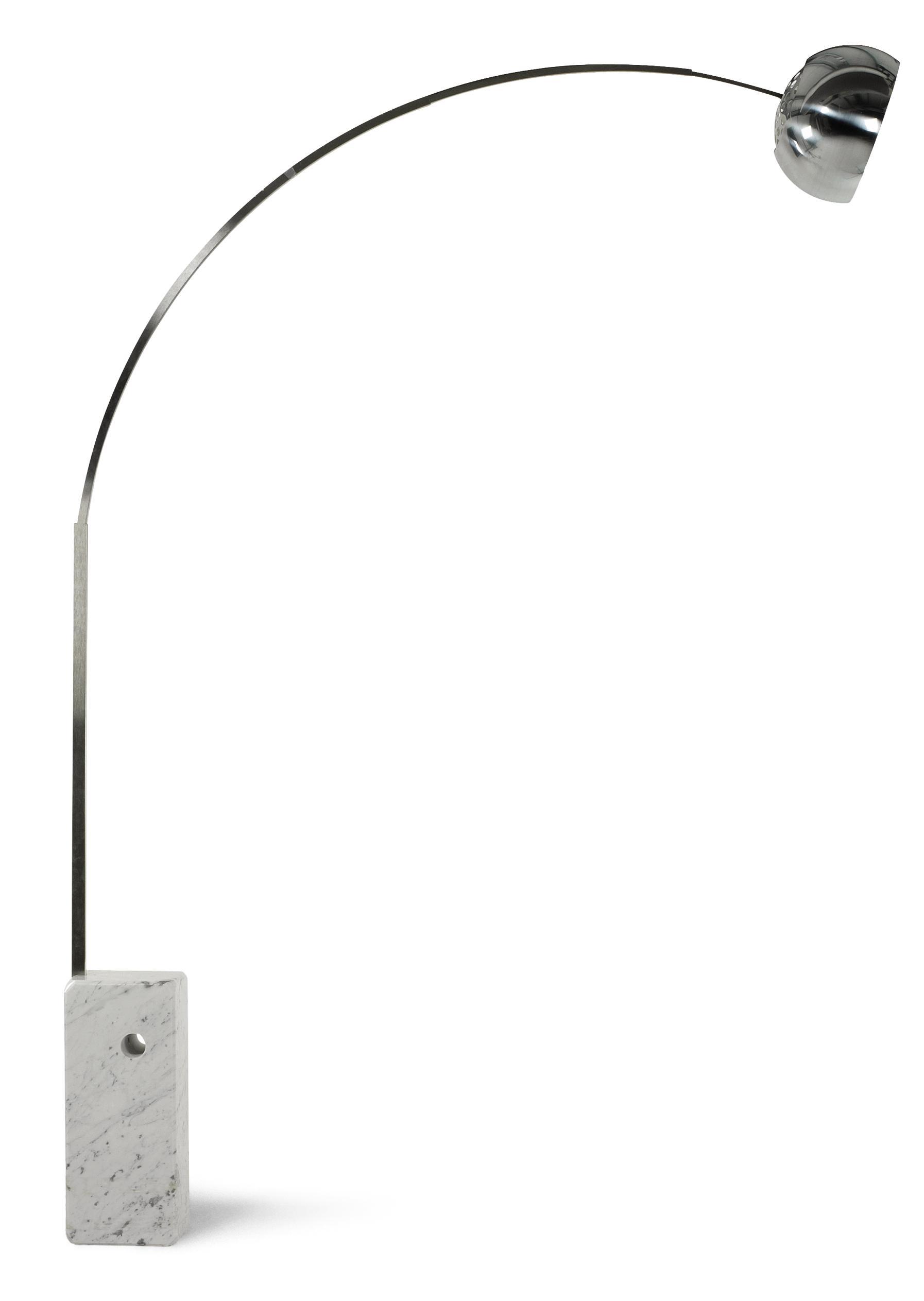 AN ARCO FLOOR LAMP, DESIGNED 1962