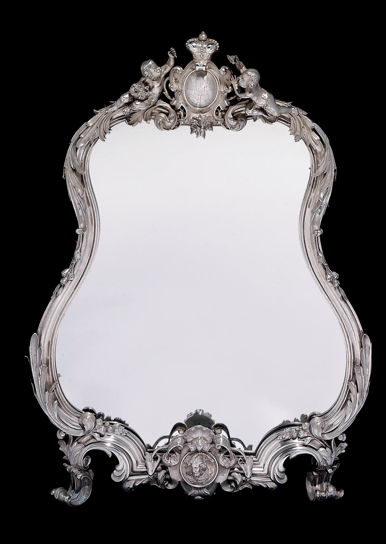 A Large Silver Dressing-Table Mirror