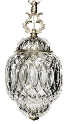 A PAIR OF ENGLISH CUT-GLASS CE