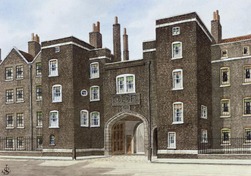 The old Lincoln's Inn Gateway, Chancery Lane (illustrated); Middle Temple Lane; The Old Post House, Middle Temple Gate; Old Mitre Court, Sargeant's Inn; The entrance to Sergeant's Inn; and Clifford's Inn