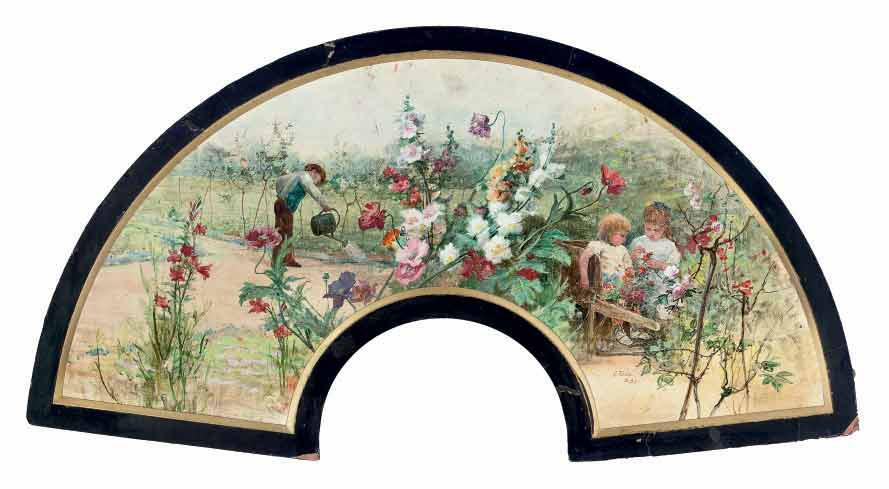 The secret garden: a design for a fan