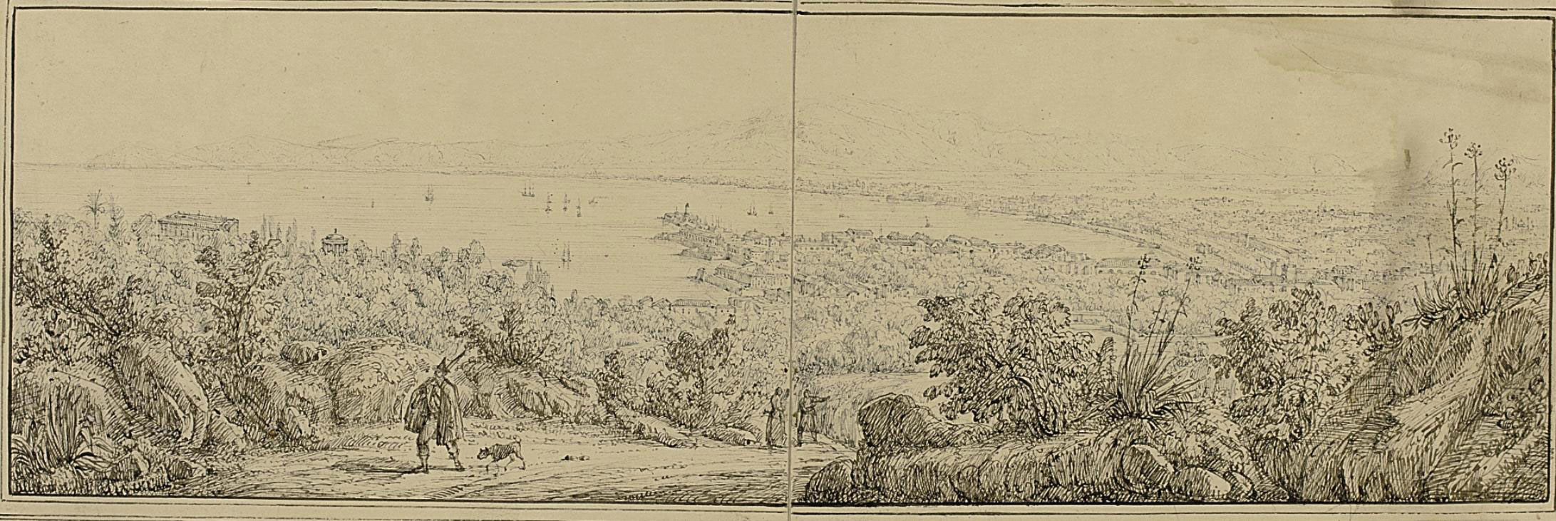 A panorama of the bay at Palermo