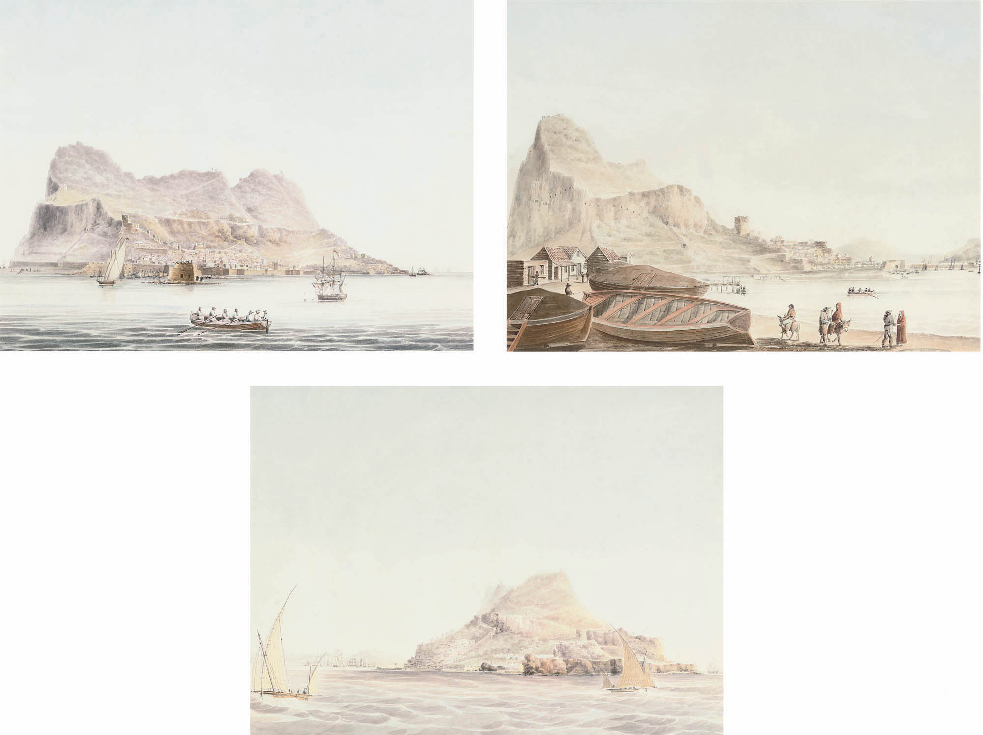 Views of Gibraltar (all illustrated)