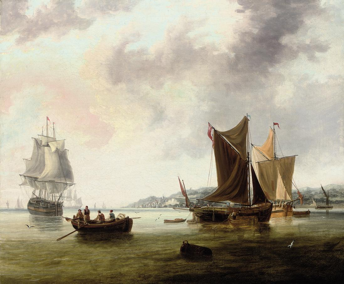 View of Gravesend, Kent, with shipping in the river