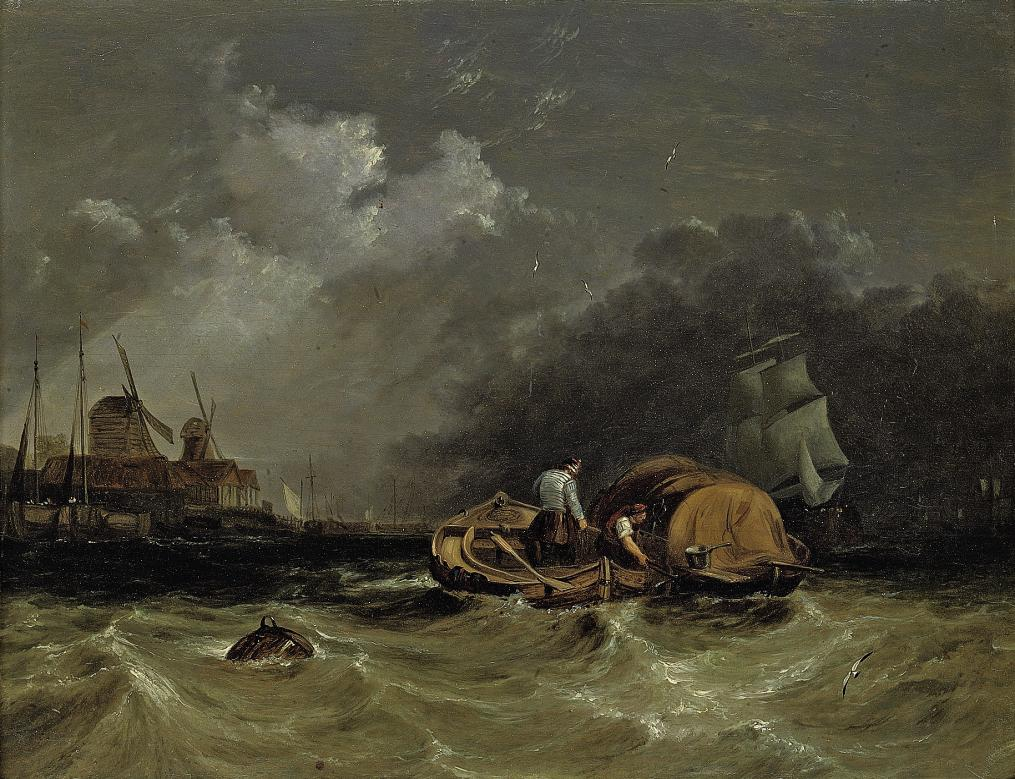 A choppy day on the Thames at Millwall