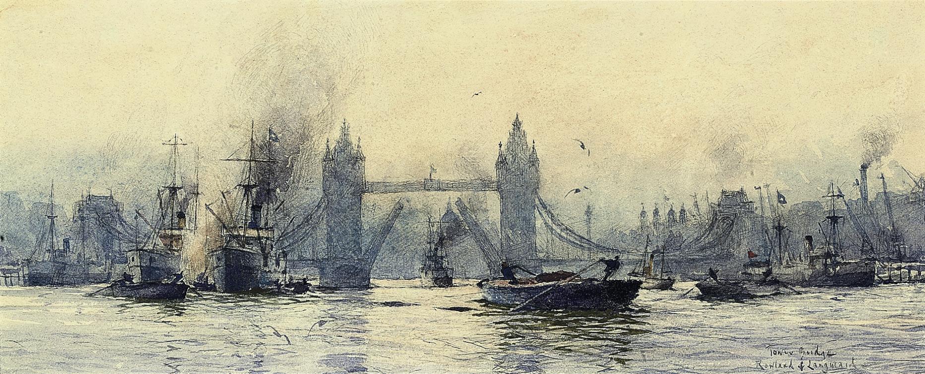 Bustling activity below Tower Bridge