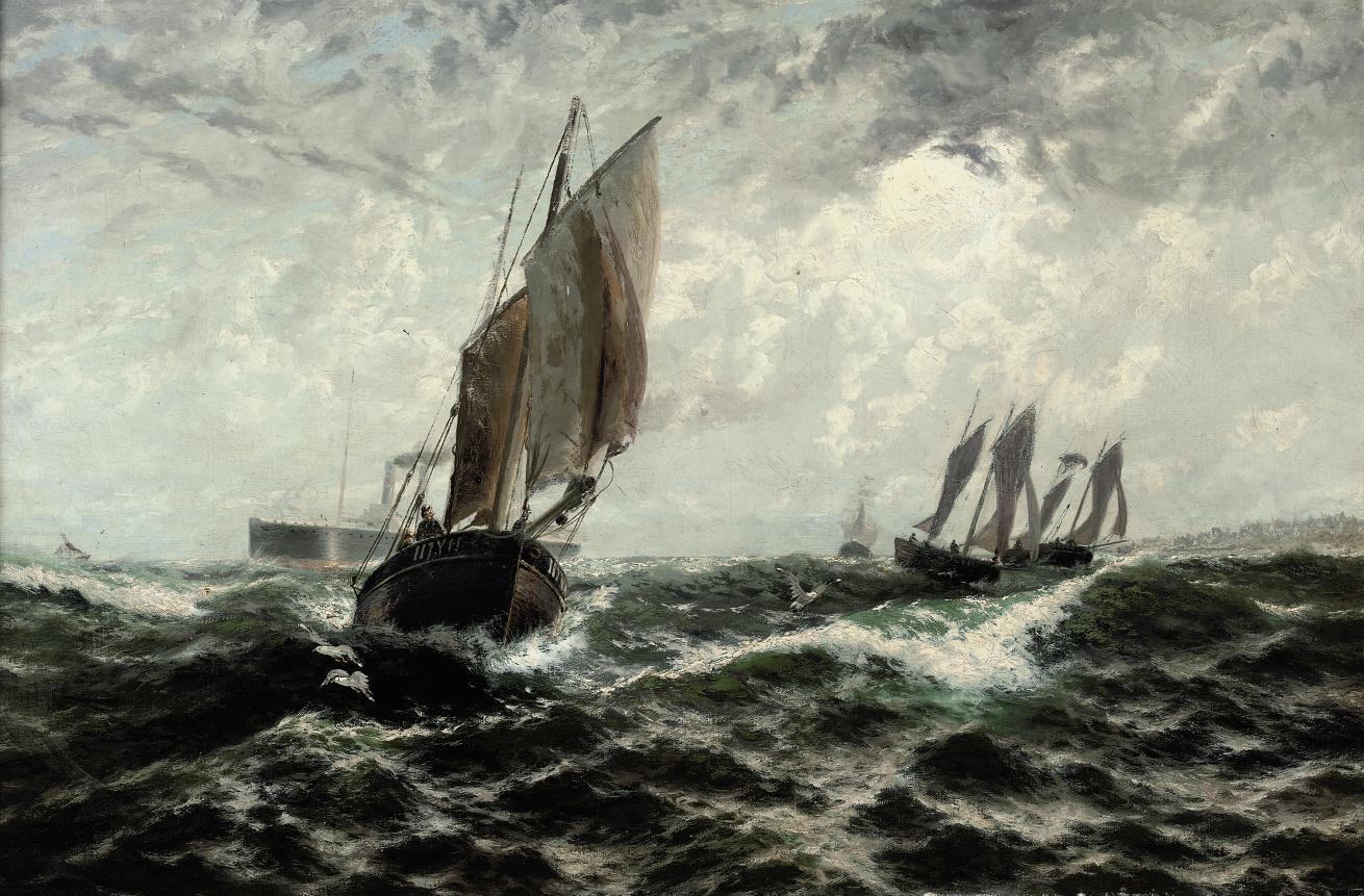 """Northward, for the herring shoals"""