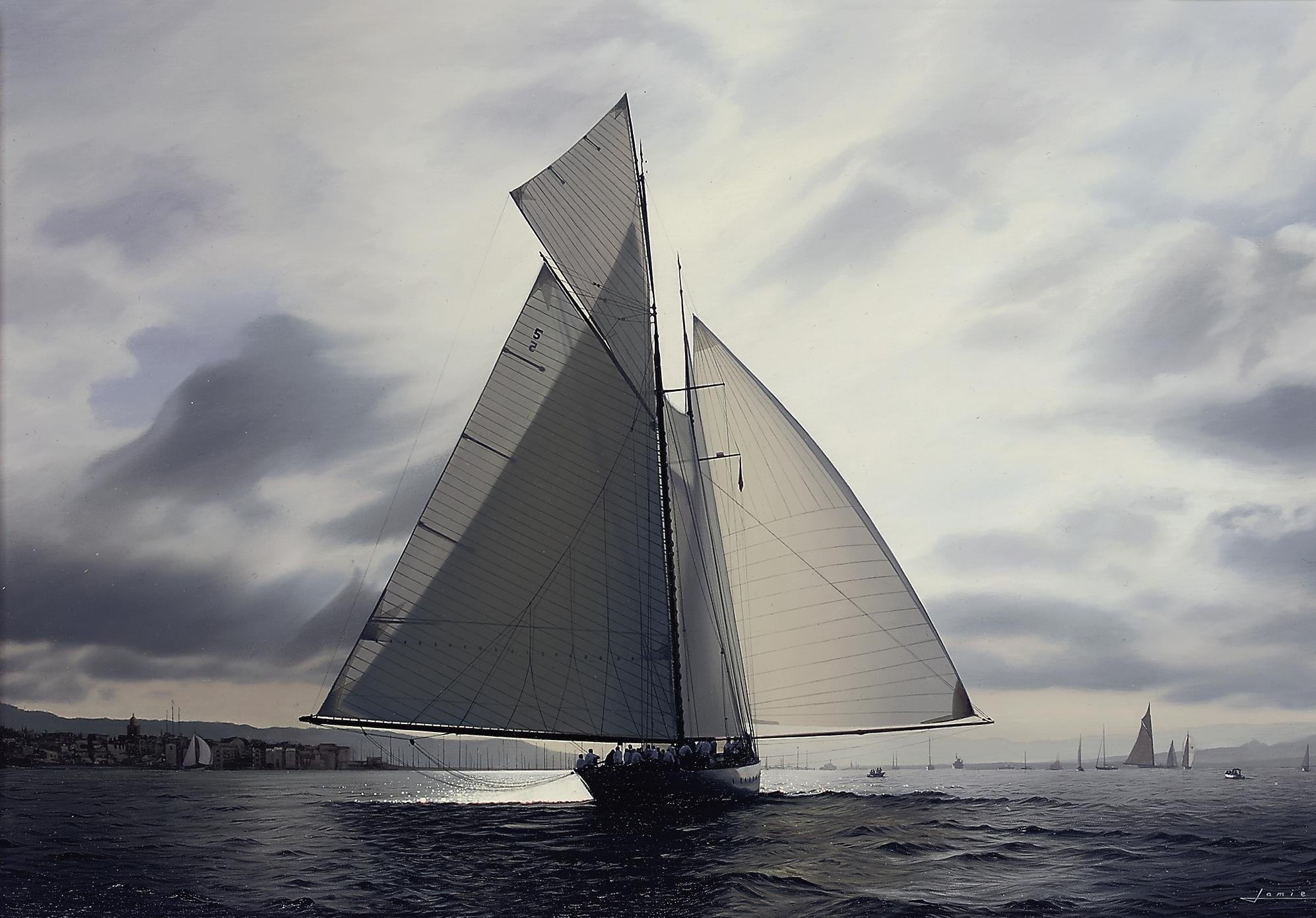 Eleonora ghosting into St. Tropez on Thursday's race of Les Voiles de St. Tropez, 2007