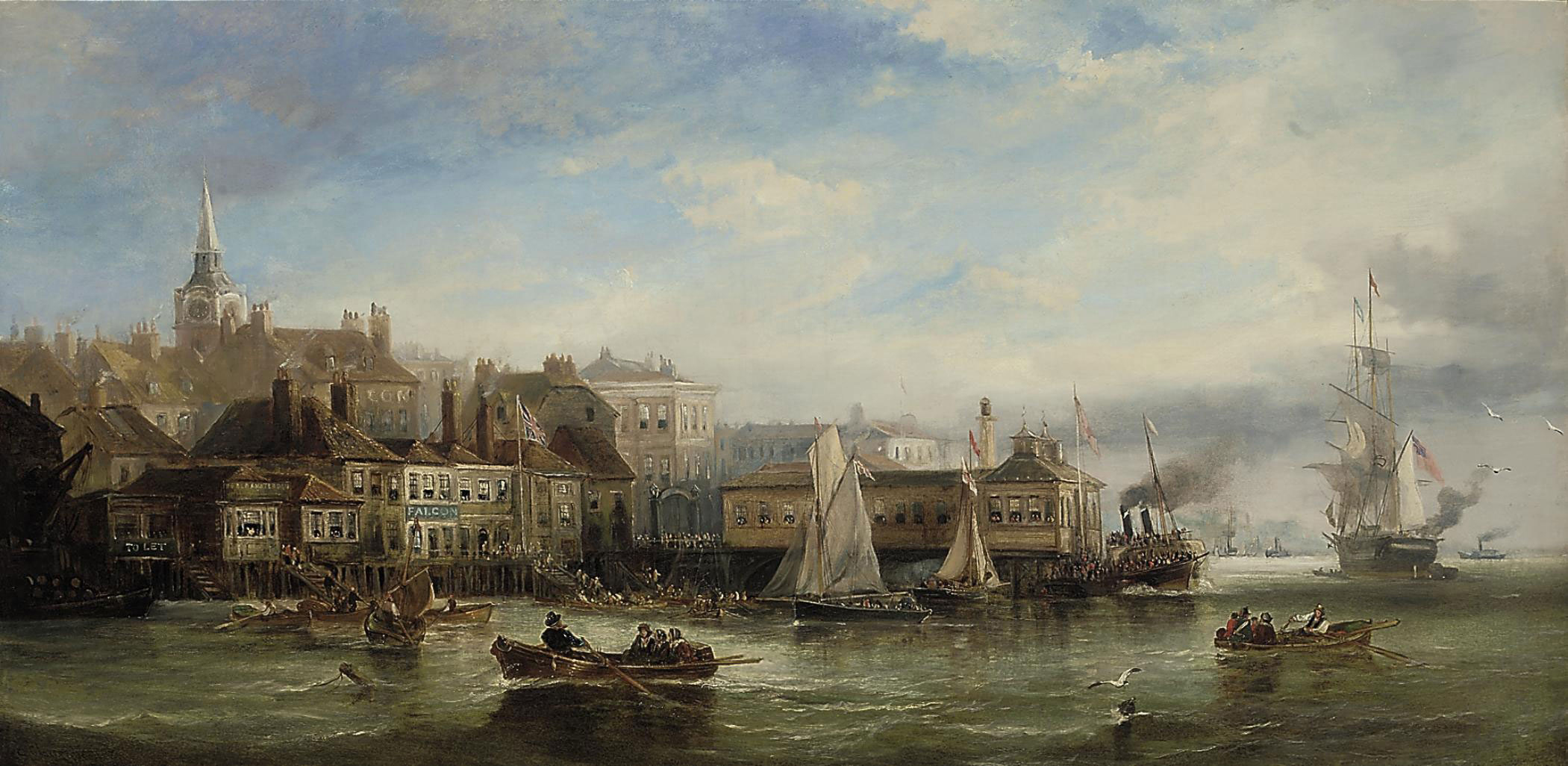 A hive of activity on the Thames at Gravesend