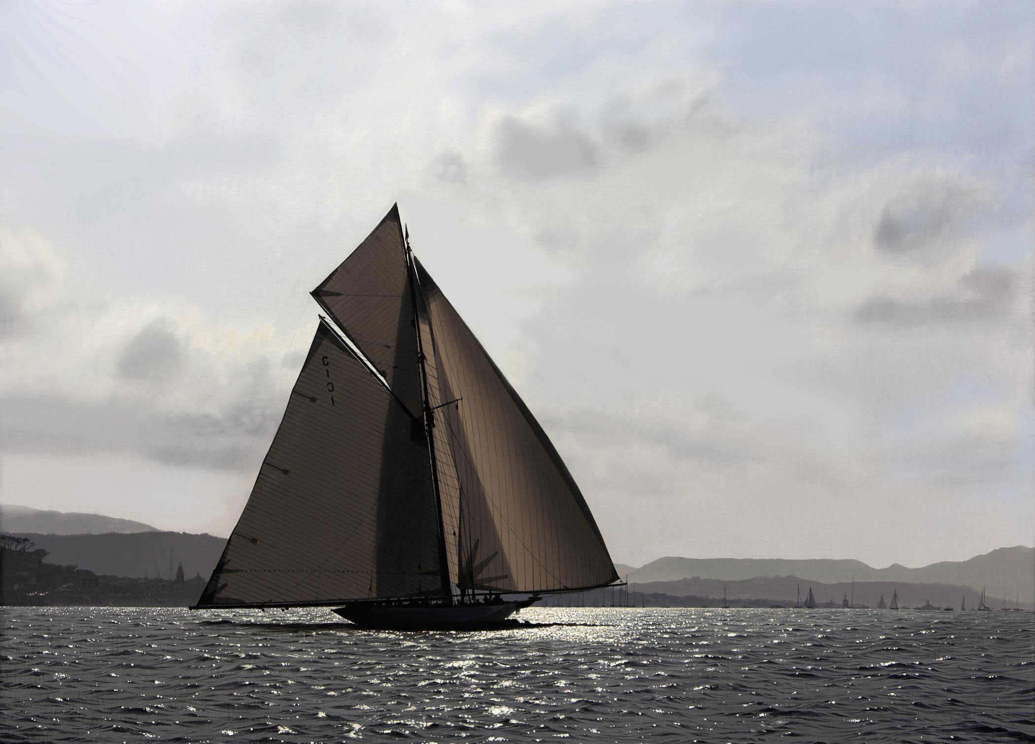 Mariquita in light airs during Thursday's race of Les Voiles de St. Tropez, 2007
