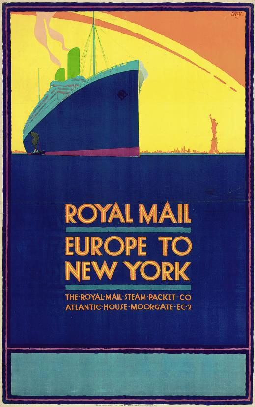 ROYAL MAIL, EUROPE TO NEW YORK