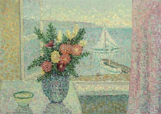 Jeanne selmersheim desgranges 1877 1958 bouquet devant for Devant la fenetre