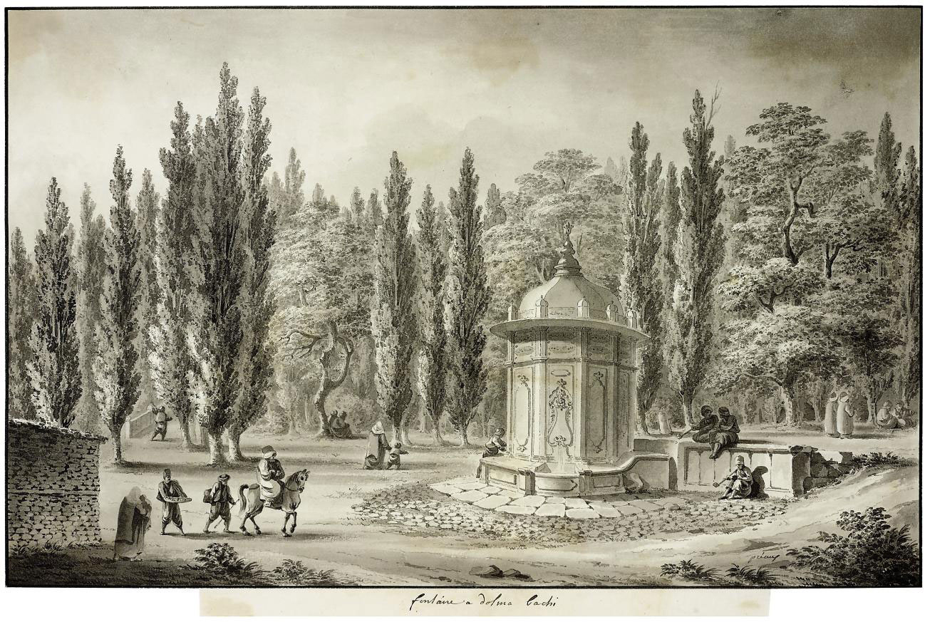 The fountain in the grounds of the Dolma Bachi Palace, Pera
