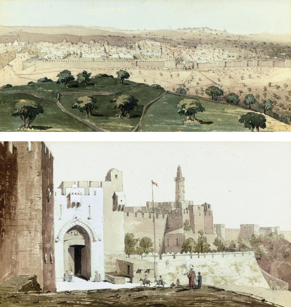 Jerusalem from the Mount of Olives; and The Jaffa Gate