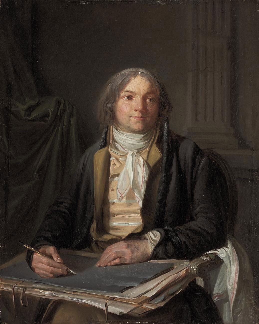 Portrait of an artist sketching