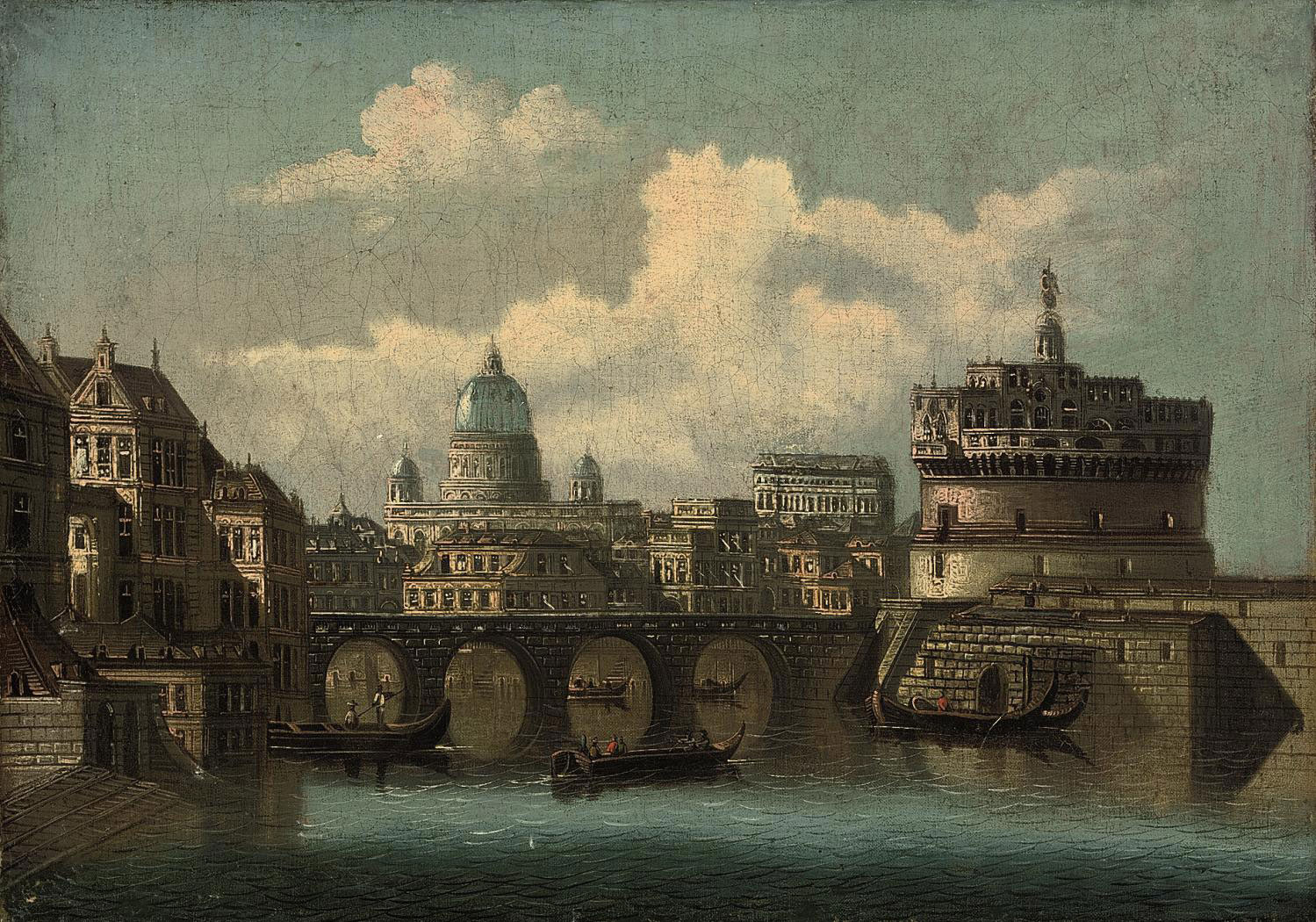 Vessels at the Castel Sant Angelo, Rome