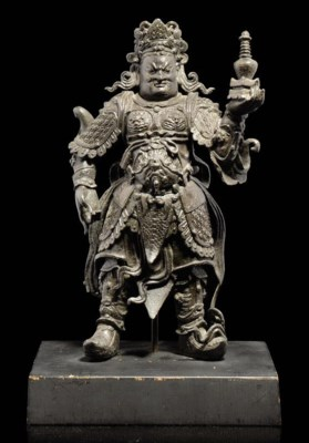 A BRONZE WARRIOR FIGURE OF THE