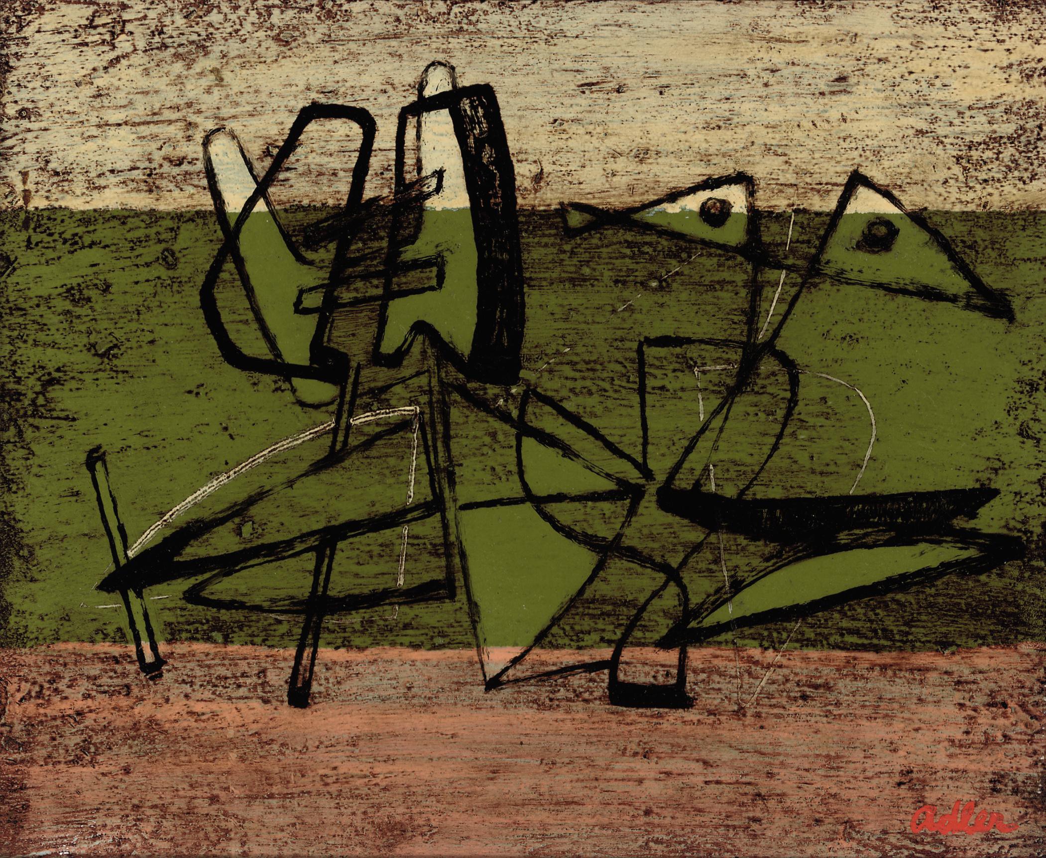 Abstract Composition, Green