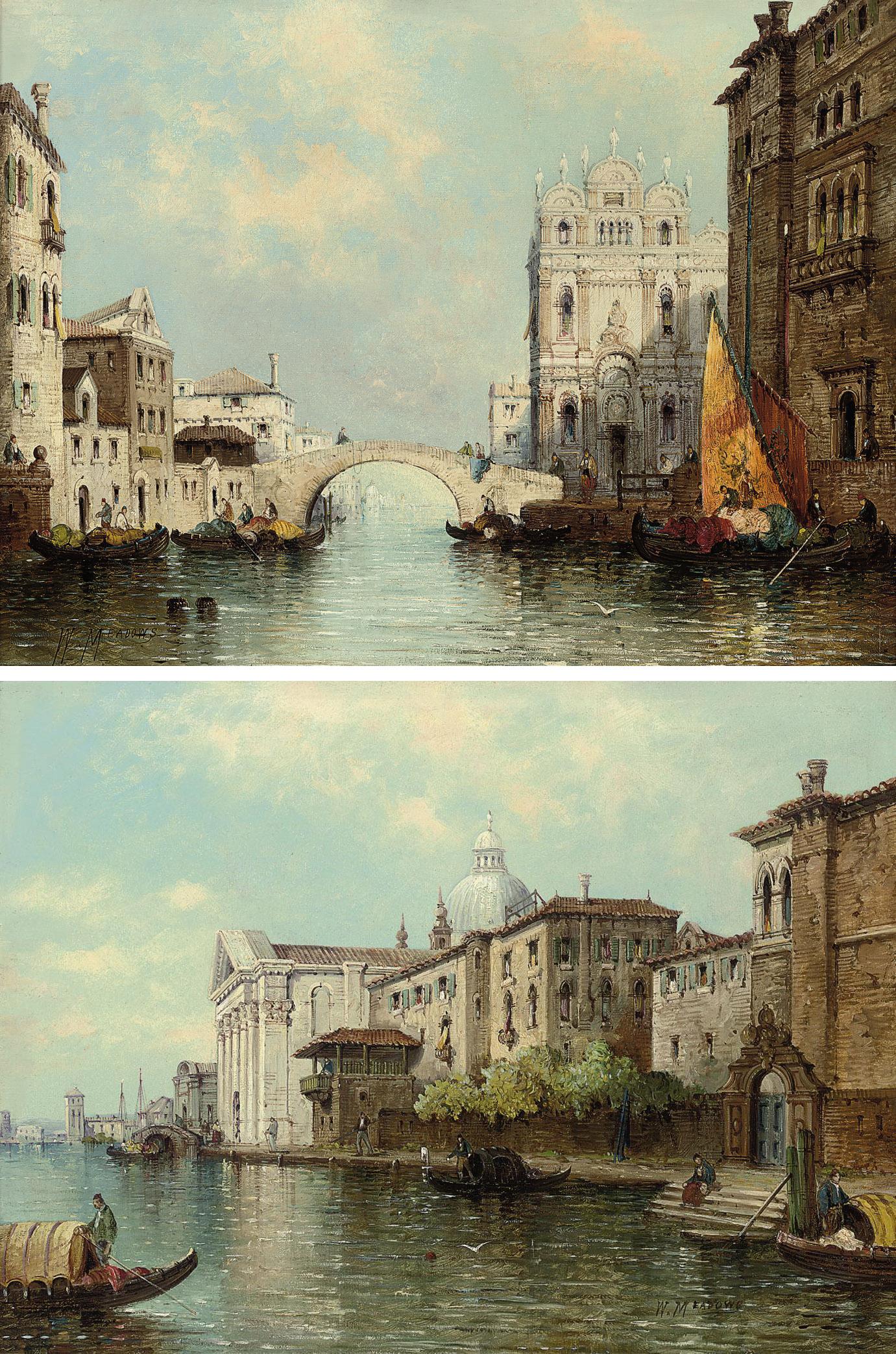 A Venetian capriccio; and Gondolas on a canal