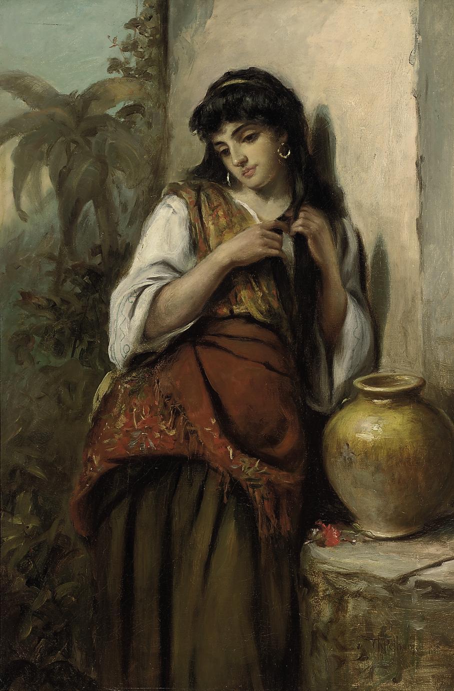 A little maid of Alicante