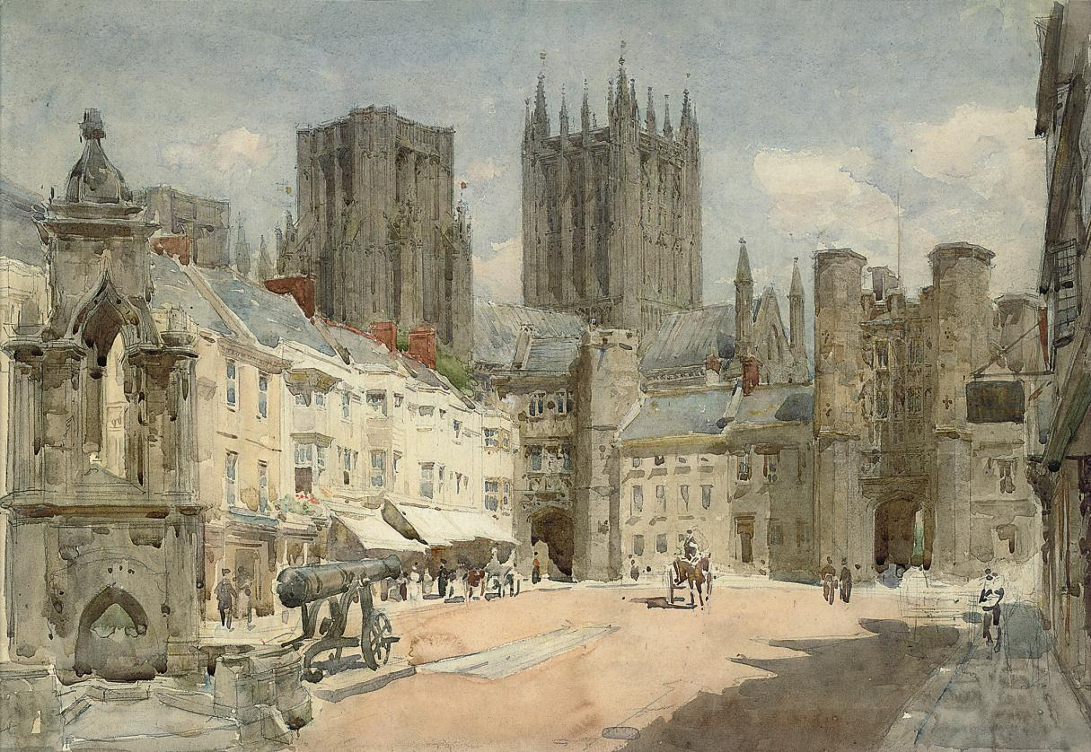 The market square, Wells