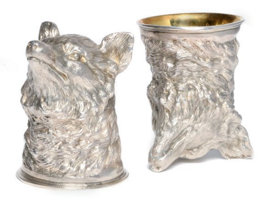 A PAIR OF GERMAN SILVER FOX MA