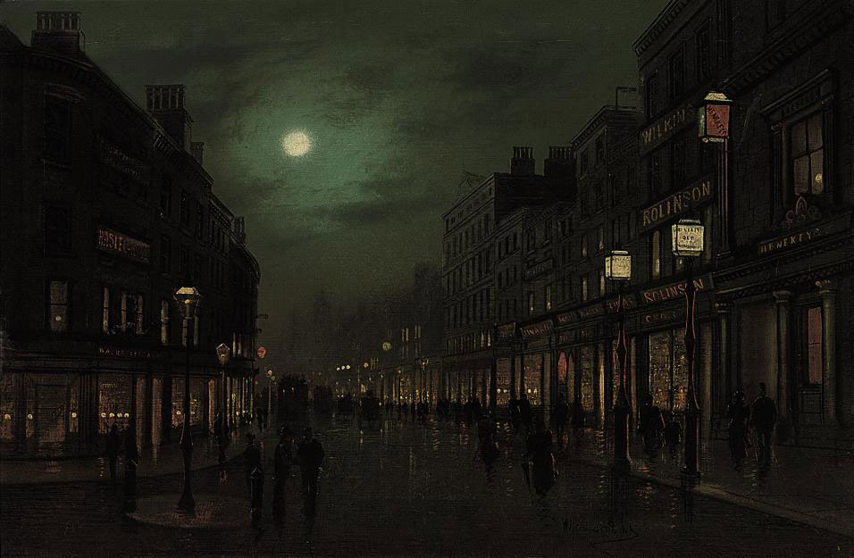 The Strand by moonlight