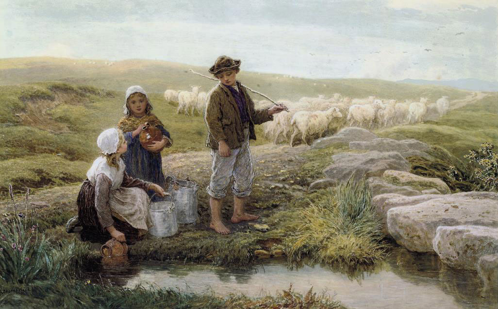 Children fetching water from the spring