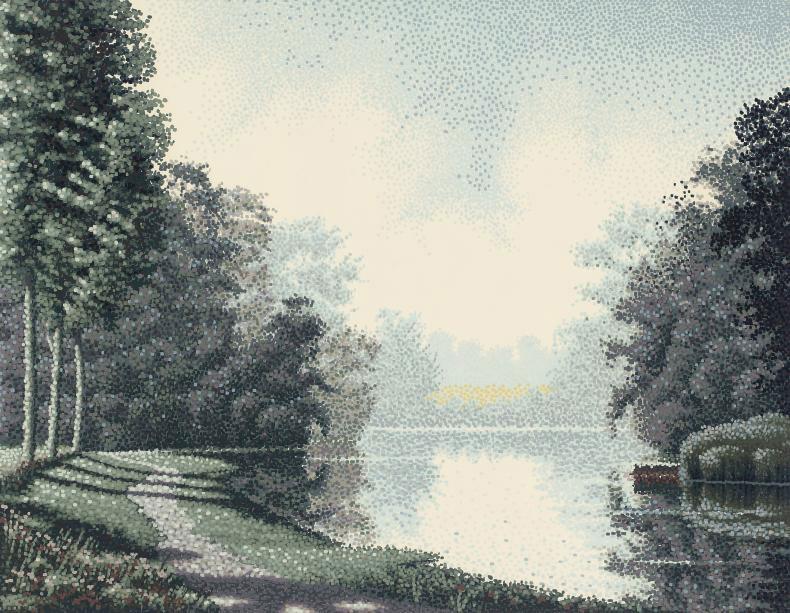 Riverbend II; Water Meadow II; Gardens I; Gardens II