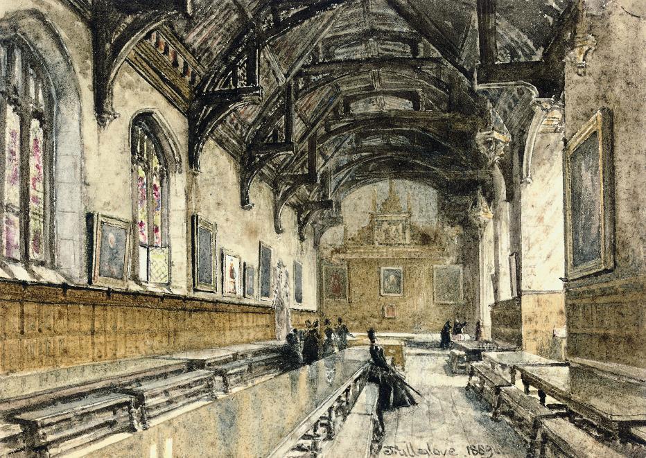 The Hall of St. John's College, Cambridge (illustrated); and The Hall of Trinity College, Cambridge