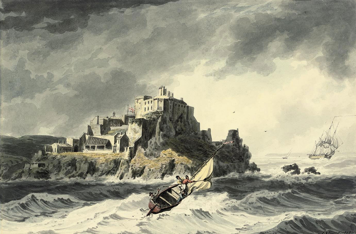 Mont Orgueil Castle on the Island of Jersey