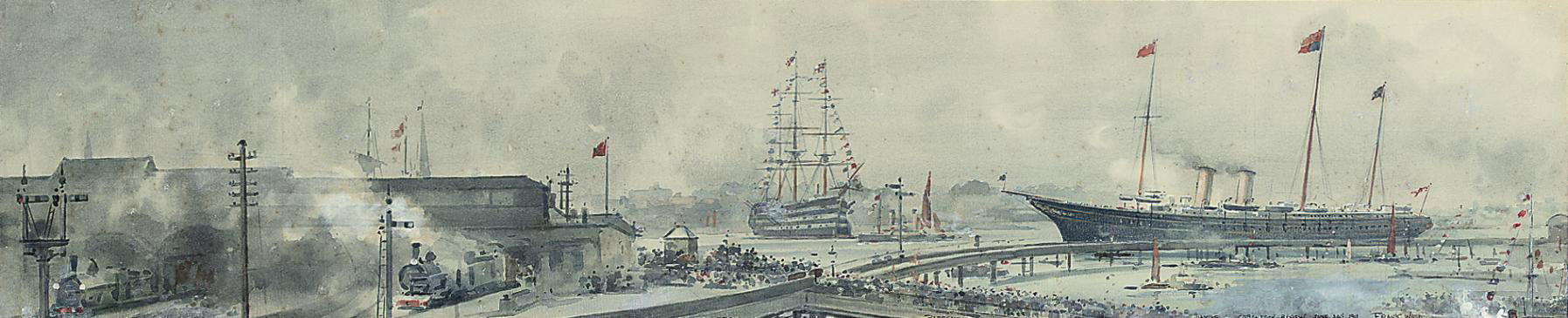 The Coronation Fleet Review of King George V, 24th June 1911, Portsmouth Harbour