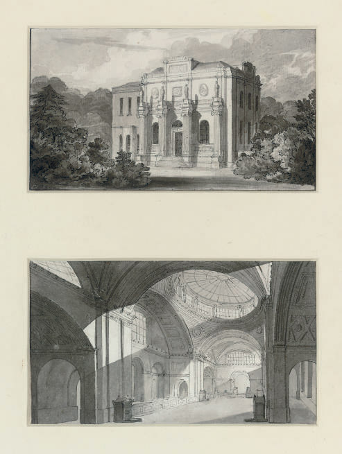 The three-per-cent Consols Transfer Office, Bank of England; and Pitshanger Manor House, Ealing