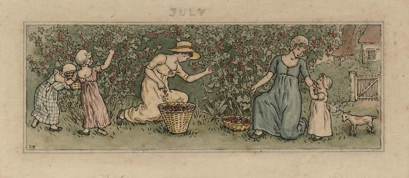An illustration for the Almanack, July, 1887