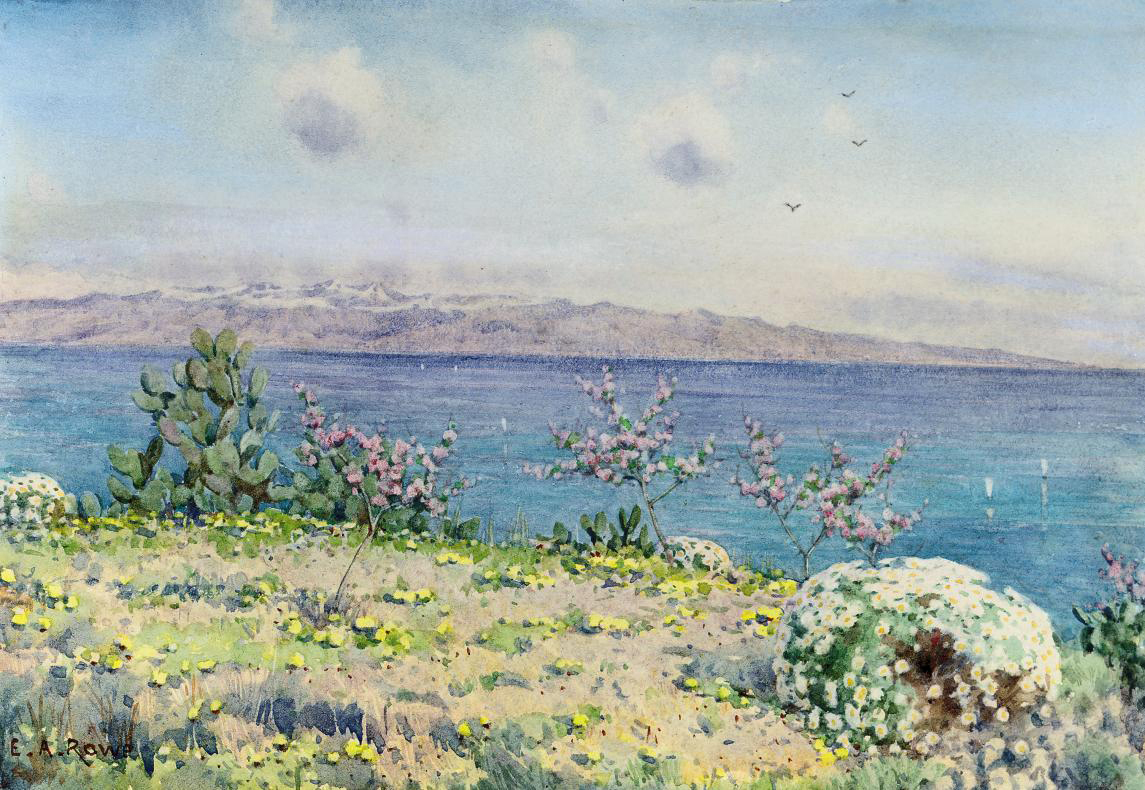 Calabria and Straits of Messina from Taormina