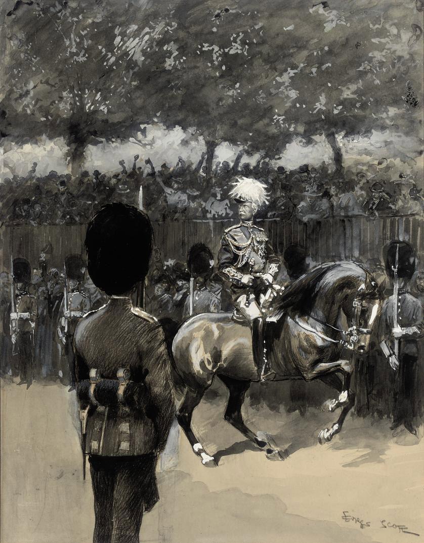 DOUGLAS HAIG, 1ST EARL HAIG, FIELD MARSHAL ON A TRIUMPHAL MARCH THROUGH LONDON TO CELEBRATE THE ARMISTICE