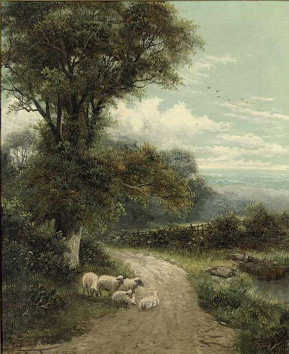 A lane, Dorking, Surrey; and A cornfield, near Guildford, Surrey