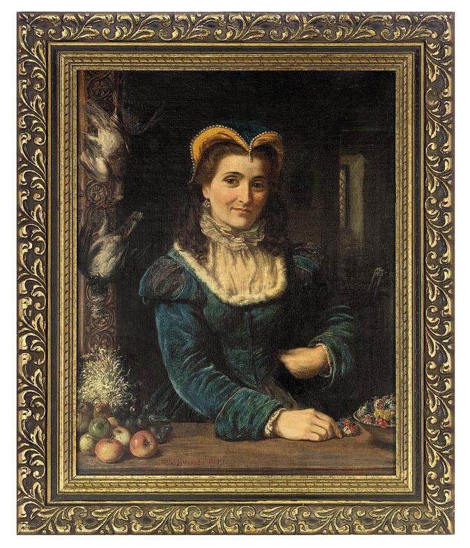 A lady at a casement