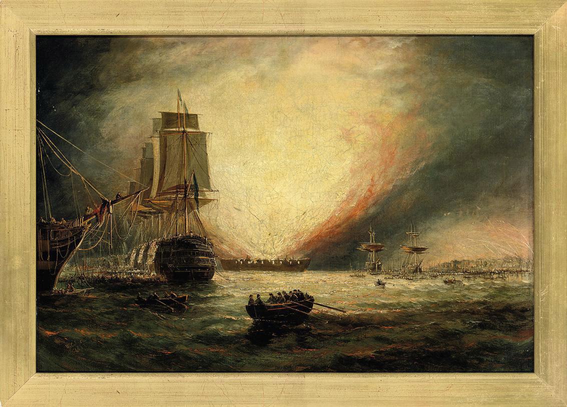 A naval bombardment