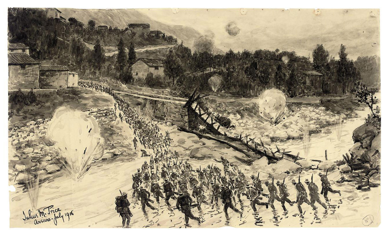 Thirty-five illustrations from the Italian Front, 1915-1916 for the Illustrated London News
