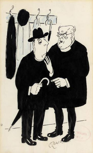 'It is my duty to tell you, Monsignor Canteloupe, that there is a widespread feeling in the Club that your attitude toward umbrellas is too ecumenical by half!'