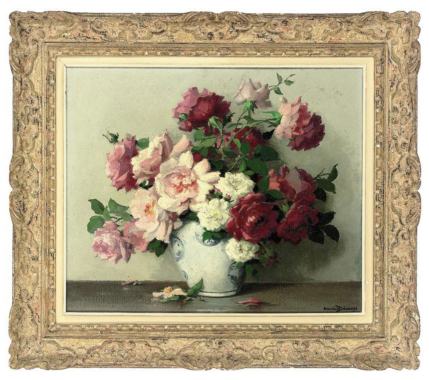 Roses in a Chinese vase