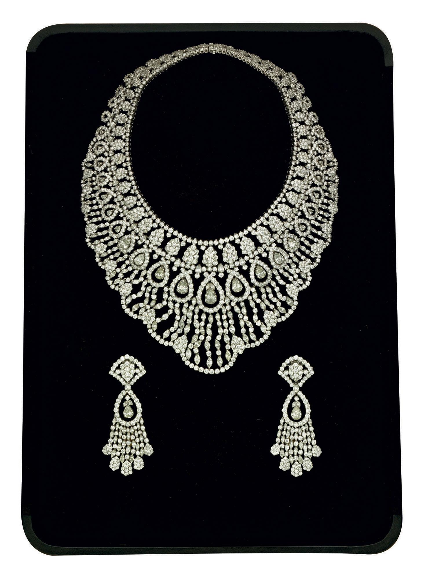 A DIAMOND DEMI-PARURE, BY ELIE CHATILA