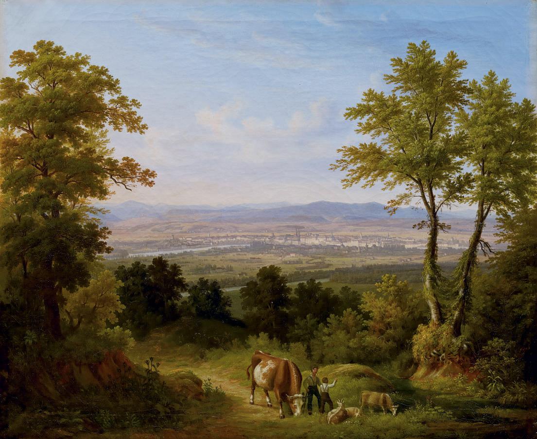 Ansicht von Basel, 1845