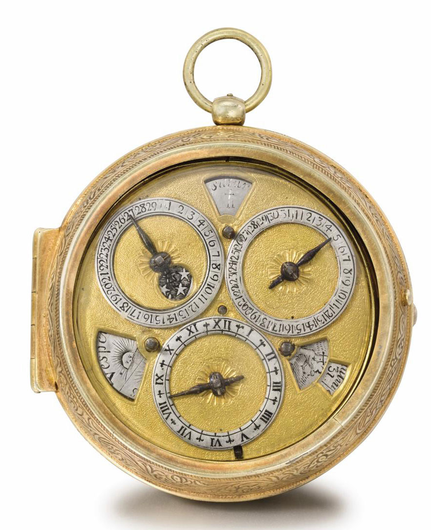 Louis Prévost. A rare and early gilt metal pair cased astronomical verge watch