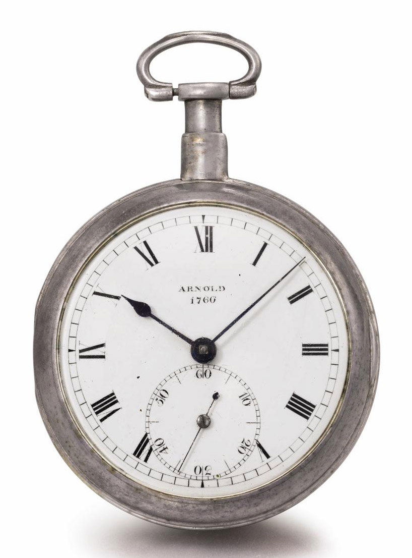 Arnold. A fine silver openface pocket chronometer