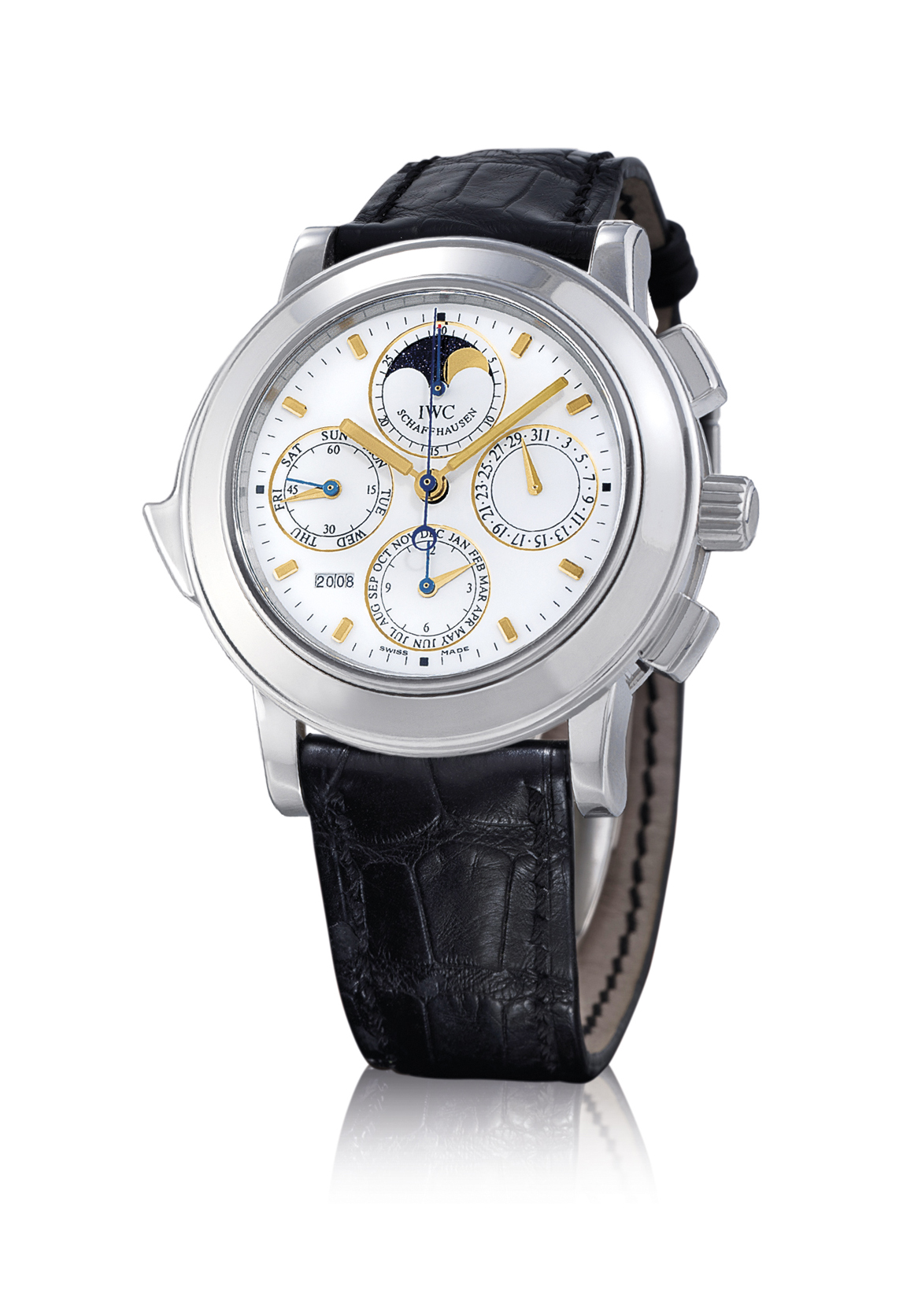 IWC, GRANDE COMPLICATION  PLATINUM AUTOMATIC PERPETUAL CALENDAR MINUTE REPEATING CHRONOGRAPH OVERSIZED WRISTWATCH WITH MOON PHASE DISPLAY, LIMITED EDITION OF 50