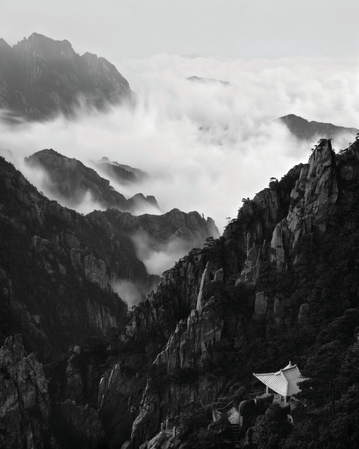 The White Pavilion in Huangshan