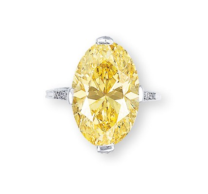 A Superb Coloured Diamond And Diamond Ring By Tiffany